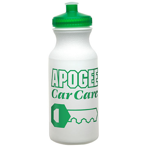 20 oz Economy Bottle with Push-Pull Lid Green