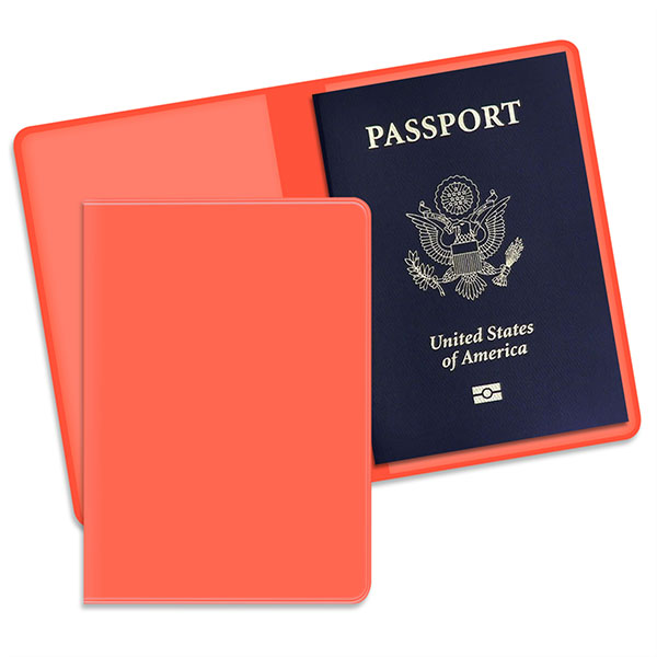 Economy Passport Case Blaze Orange