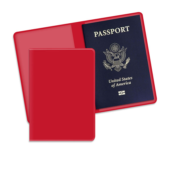 Economy Passport Case Red
