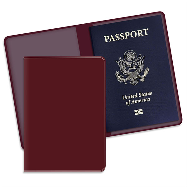 Economy Passport Case Burgundy