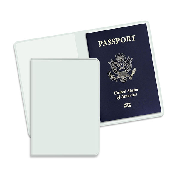 Economy Passport Case White