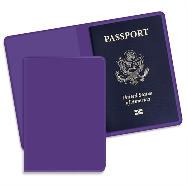 Economy Passport Case Purple