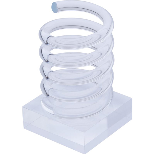 Acrylic Spiral Pen Cup Clear