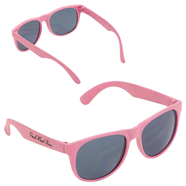 Doral Wheat Straw Sunglasses Pink
