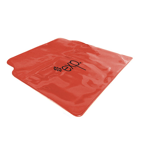 Deluxe Vinyl Pouch with Rain Poncho Translucent Red