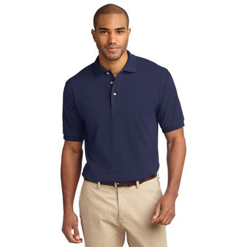 Men's Pique Knit Sport Shirt by Port Authority Navy