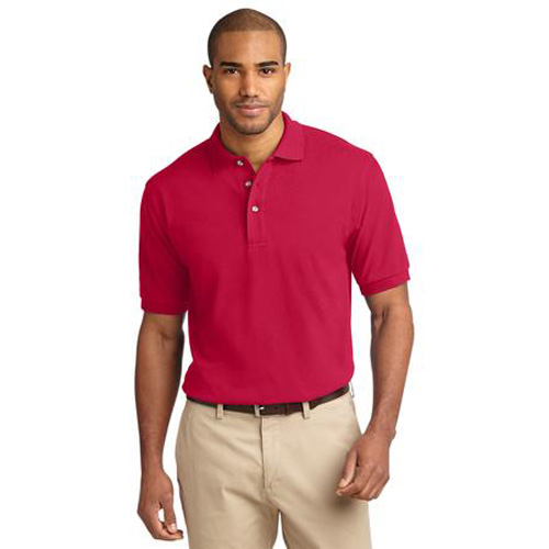 Men's Pique Knit Sport Shirt by Port Authority Red