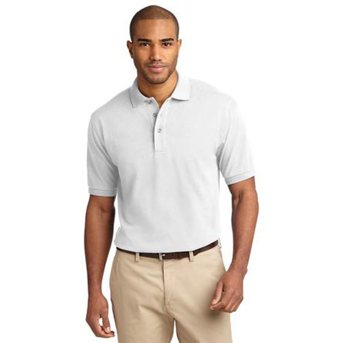 Men's Pique Knit Sport Shirt by Port Authority White
