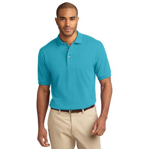 Men's Pique Knit Sport Shirt by Port Authority Turquoise