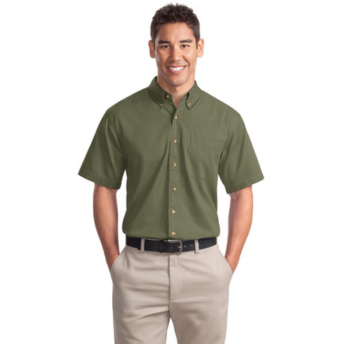 Short Sleeve Twill Shirt Faded Olive