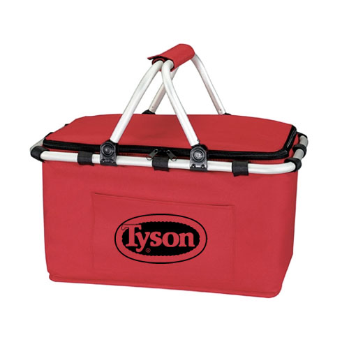 Koozie Picnic Basket Red