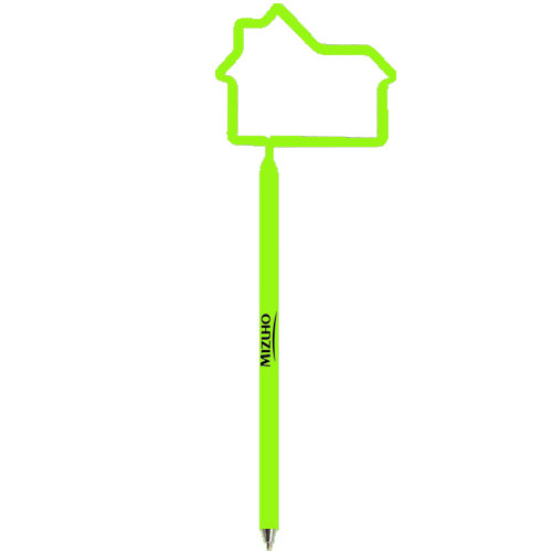 House Shaped Pen Opaque Lime