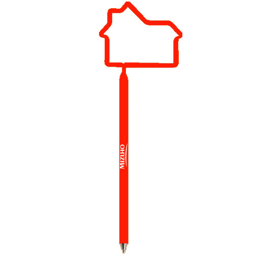 House Shaped Pen Opaque Red