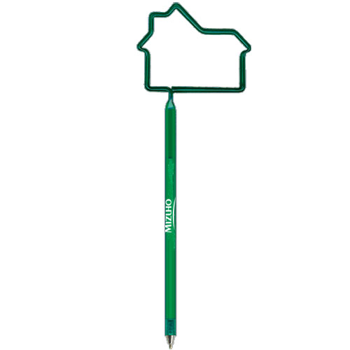 House Shaped Pen Translucent Dark Green