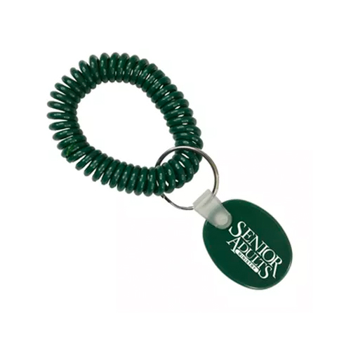 Spiral Wrist Coil Tag Forest Green
