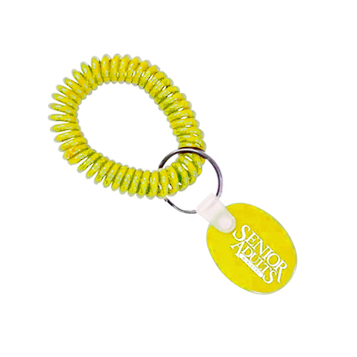 Spiral Wrist Coil Tag Yellow