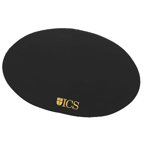 Oval Board of Directors Placemat Black