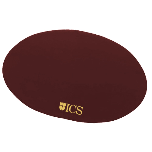 Oval Board of Directors Placemat Burgundy