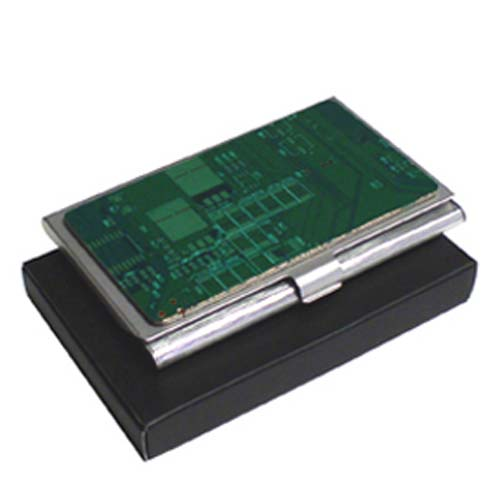 Promotional Circuit Board Business Card Case