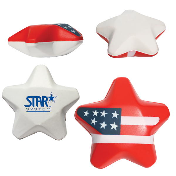 Promotional Flag Star Stress Shape