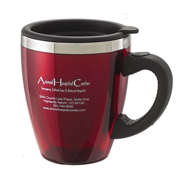 Promotional 20 oz Translucent Desk Mug