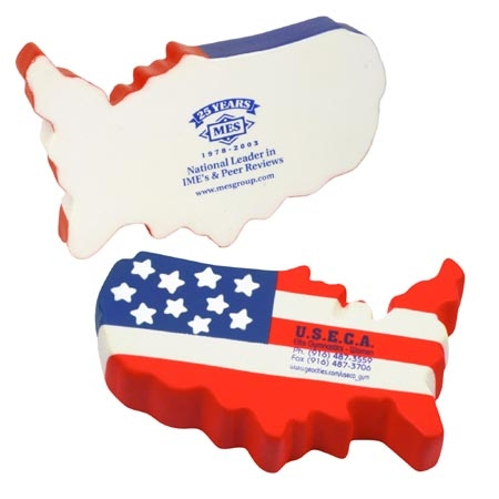 Promotional US Map Stress Ball