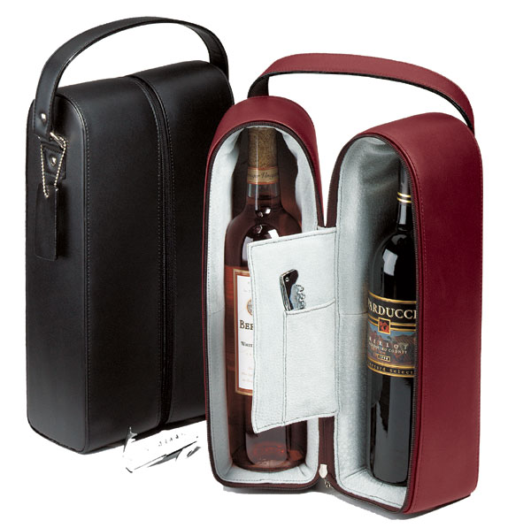 Promotional Double Leather Wine Case