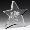 "Moving Star Paperweight - 4-1/2"" x 5"" x 3/4"" (Laser Engraved)"