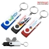 Keychain Swivel USB Car Charger - 4 Color Process