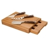 4 Piece Bamboo Cheese Set