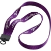 "3/4"" Smooth Nylon Lanyard w/ Plastic Clamshell & O-Ring"