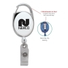 Carabiner Clip Retractable Badge Holder