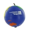Multicolored Earth Ball Yo-Yo Stress Ball