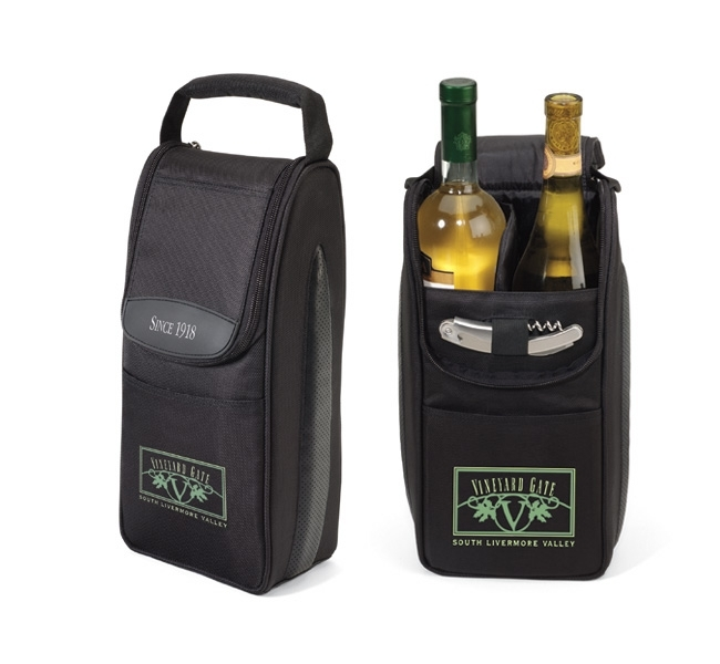 Insulated Wine Carrier Lover's Gift Set